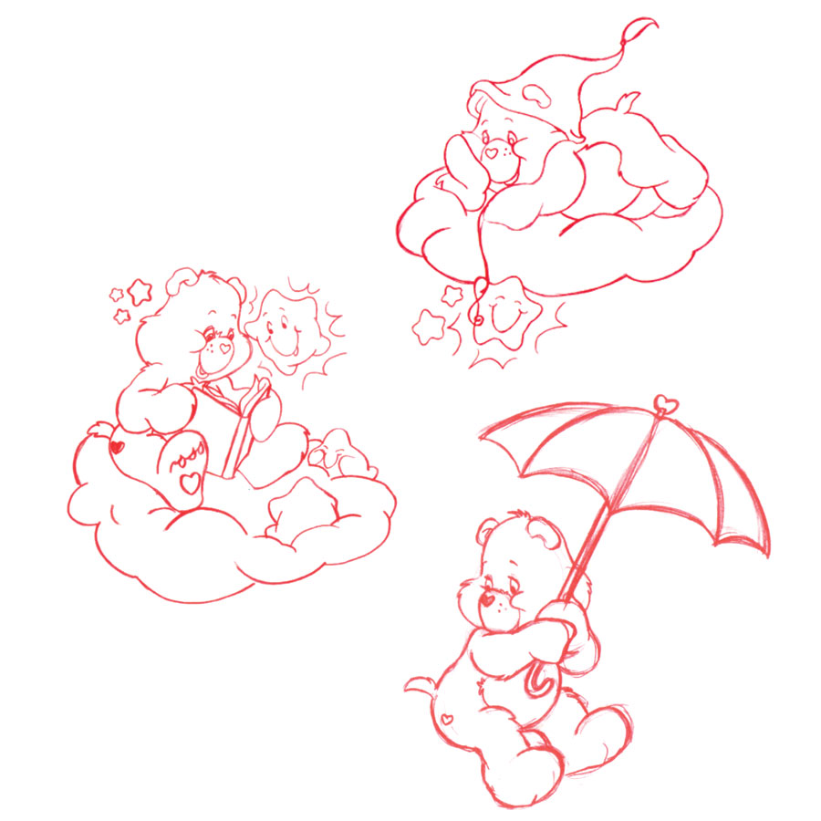 Care Bears sketches